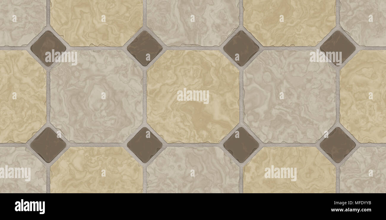 seamless kitchen flooring contemporary design beige brown classic floor tile texture simple toilet or bathroom mosaic tiles background 3d rendering illustration