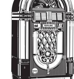 jukebox 2 retro clipart illustration [ 904 x 1390 Pixel ]