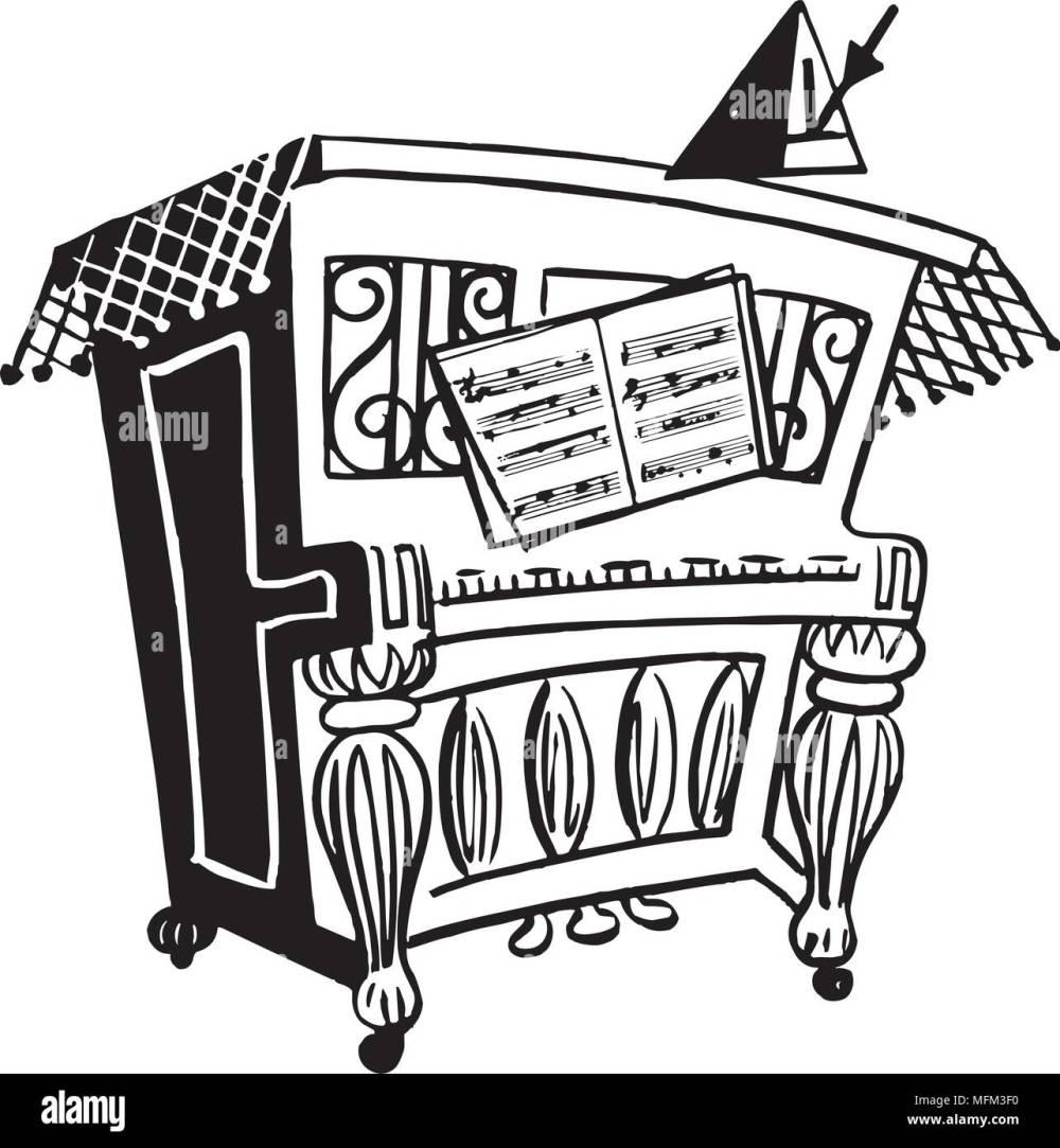 medium resolution of lively piano retro clipart illustration