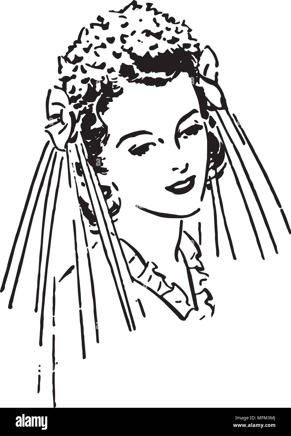 hight resolution of lovely bride retro clipart illustration