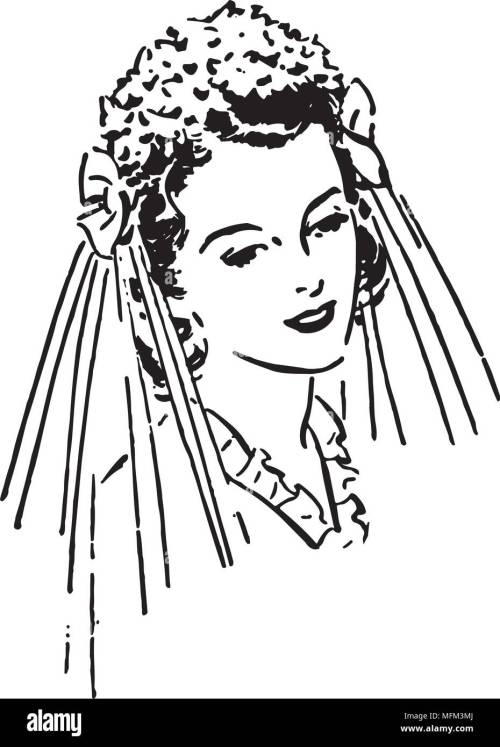 small resolution of lovely bride retro clipart illustration