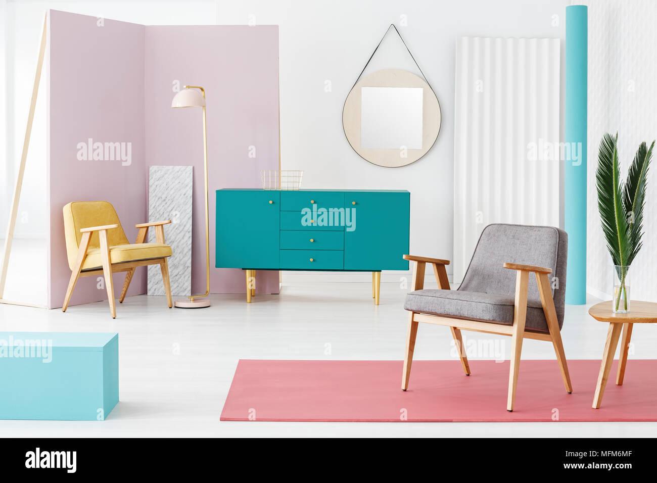 Creative Wooden Furniture Composition And Color Scheme Idea