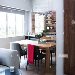 Dining Table And Chairs Hong Kong Chair Accessories Crossword Clue View Into In Open Plan Kitchen