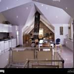 Loft Conversions Modern Open Plan Kitchen White Units Dining