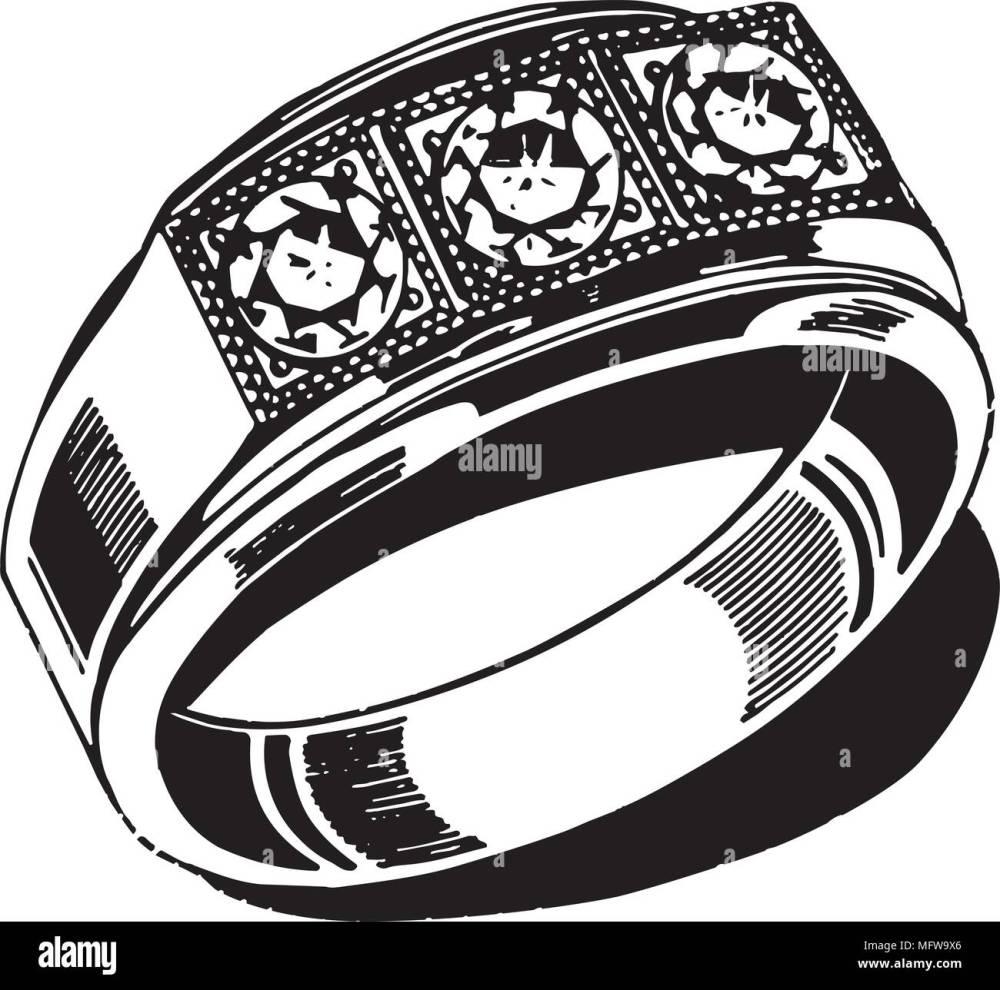 medium resolution of mens wedding ring retro clipart illustration