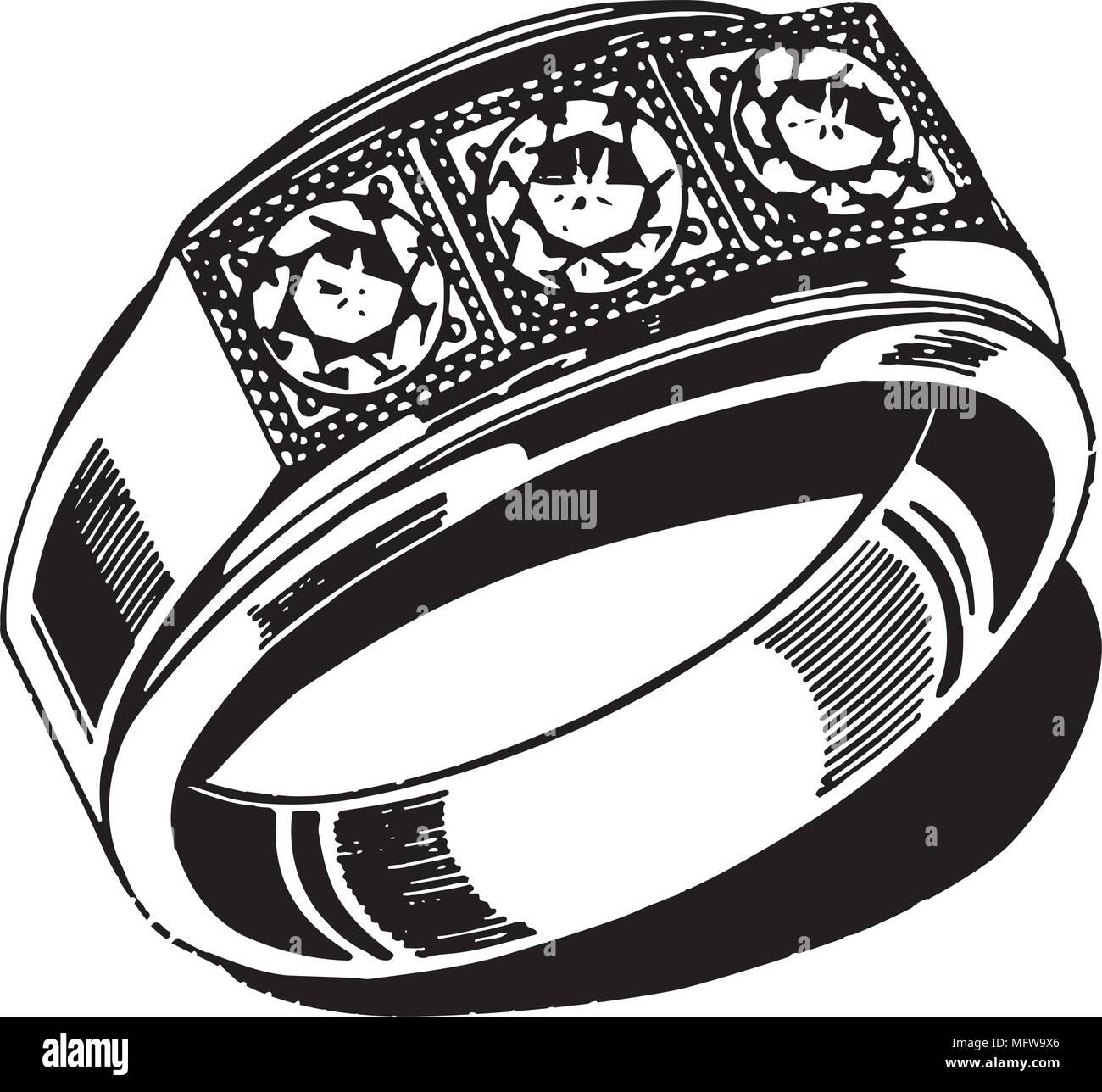 hight resolution of mens wedding ring retro clipart illustration