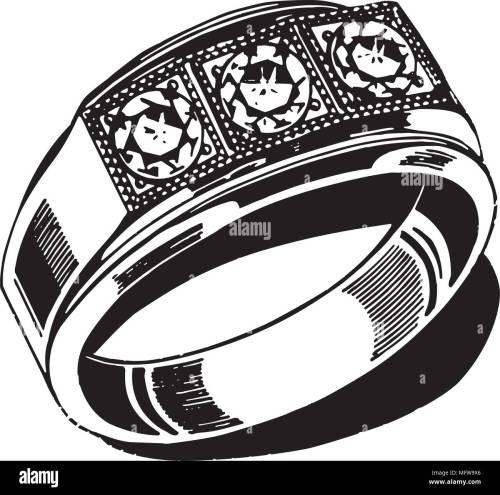 small resolution of mens wedding ring retro clipart illustration