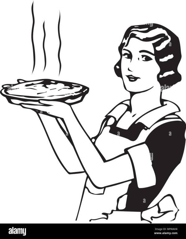 moms apple pie - retro clipart