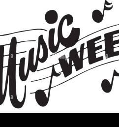 music week retro clipart banner [ 1300 x 802 Pixel ]