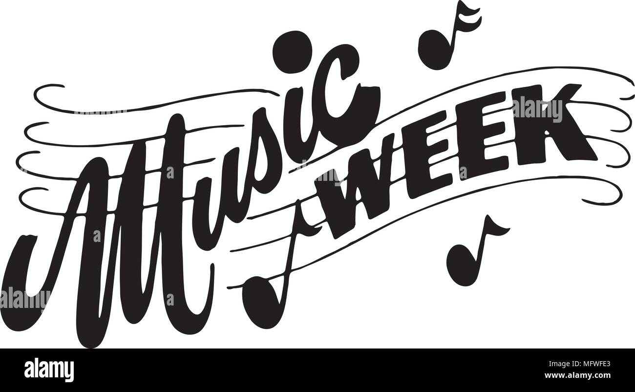 hight resolution of music week retro clipart banner