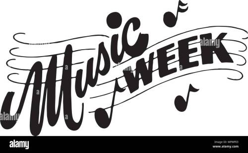 small resolution of music week retro clipart banner