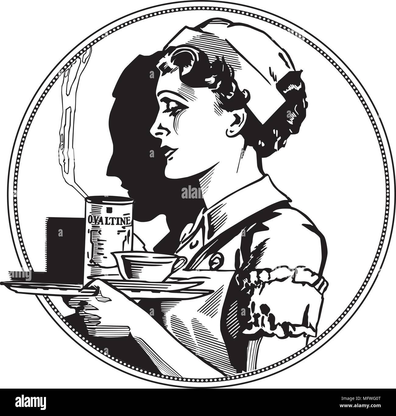 hight resolution of nurse icon retro clipart illustration