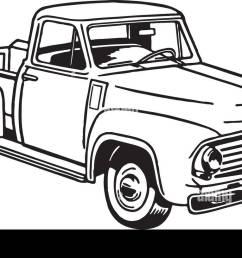 pickup truck 2 retro clipart illustration [ 1300 x 815 Pixel ]