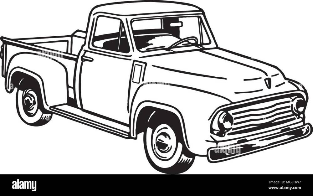 medium resolution of pickup truck 2 retro clipart illustration