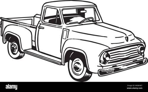 small resolution of pickup truck 2 retro clipart illustration