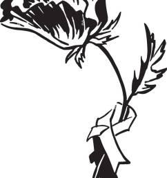 poppy retro clipart illustration [ 776 x 1390 Pixel ]