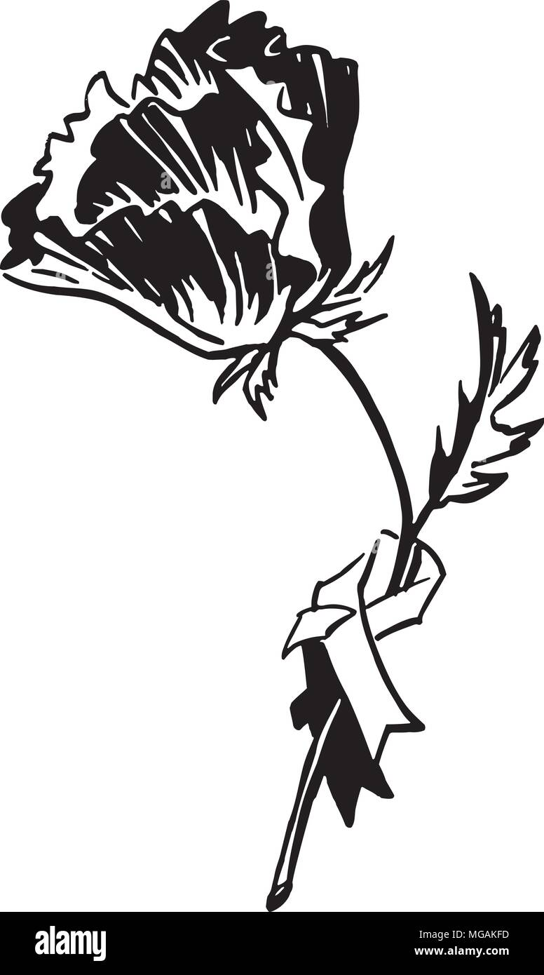 hight resolution of poppy retro clipart illustration