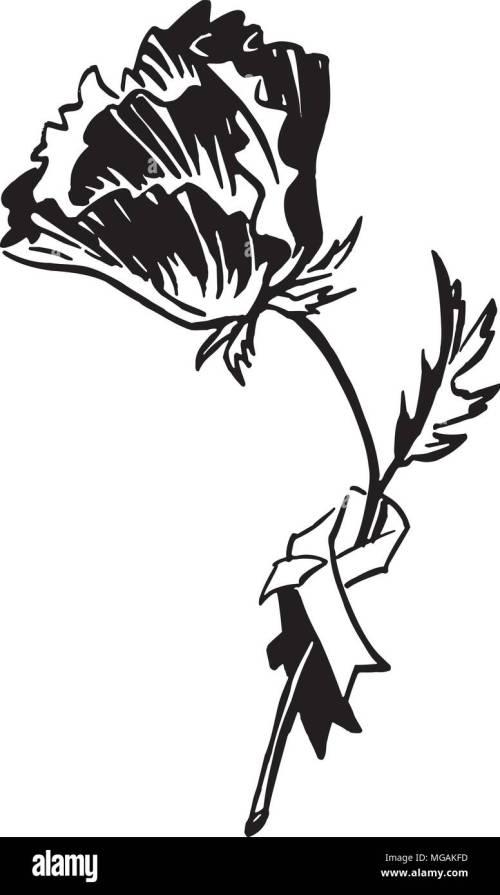 small resolution of poppy retro clipart illustration