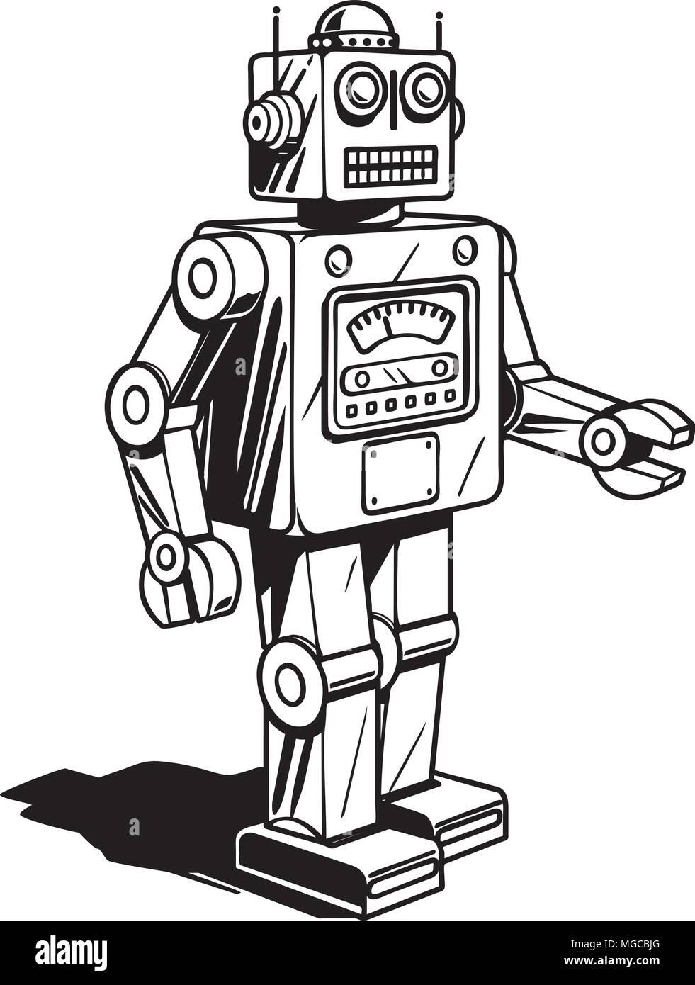 hight resolution of retro robot retro clipart illustration