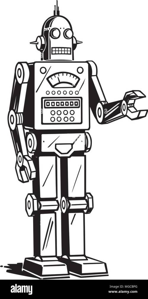 small resolution of robot man retro clipart illustration