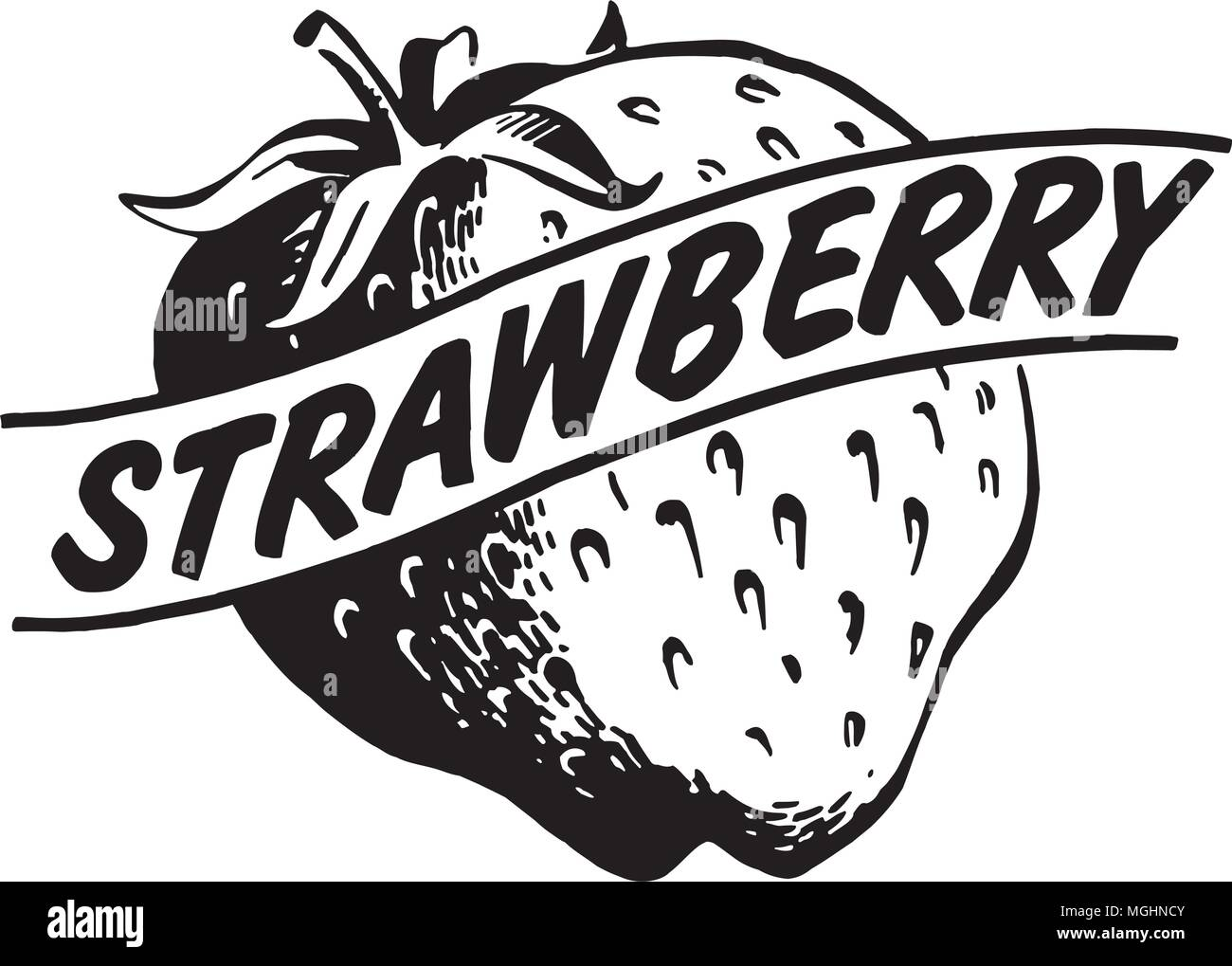 hight resolution of strawberry retro clipart illustration stock vector
