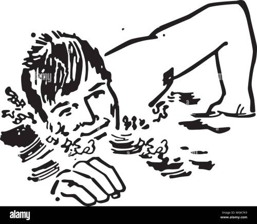 small resolution of swimmer retro clipart illustration