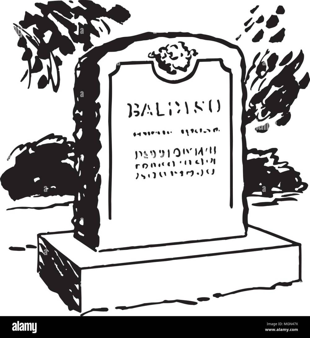 medium resolution of tombstone 6 retro clipart illustration