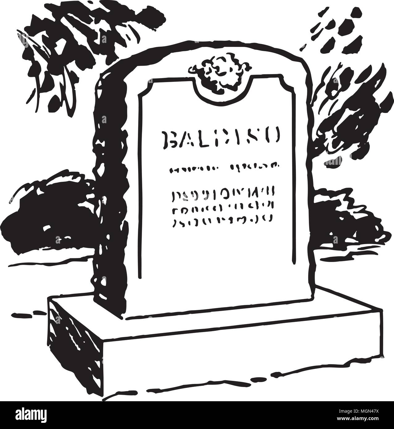hight resolution of tombstone 6 retro clipart illustration