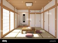 Japanese living room interior in traditional and minimal ...