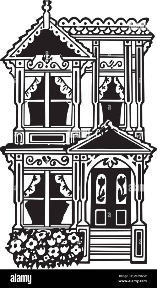 small resolution of victorian row house retro clipart illustration