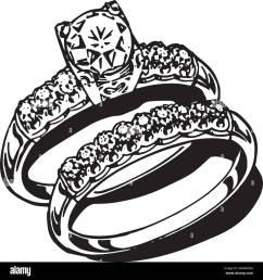 wedding rings retro clipart illustration [ 1300 x 1386 Pixel ]