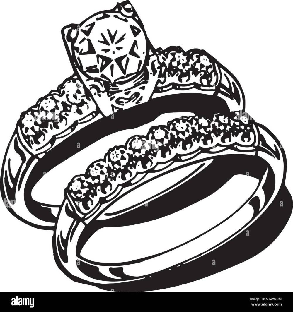 medium resolution of wedding rings retro clipart illustration