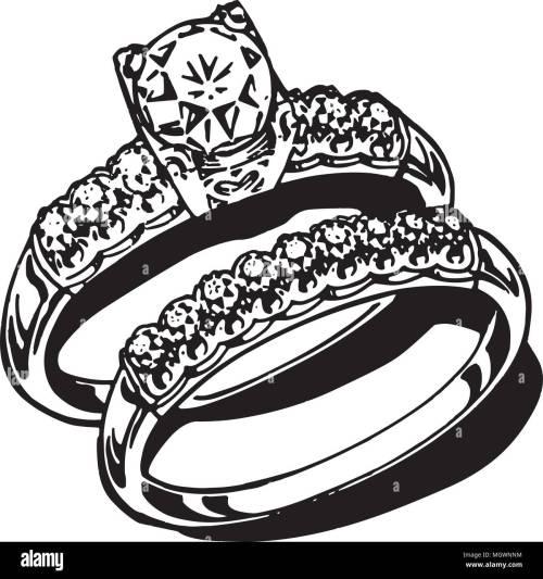 small resolution of wedding rings retro clipart illustration