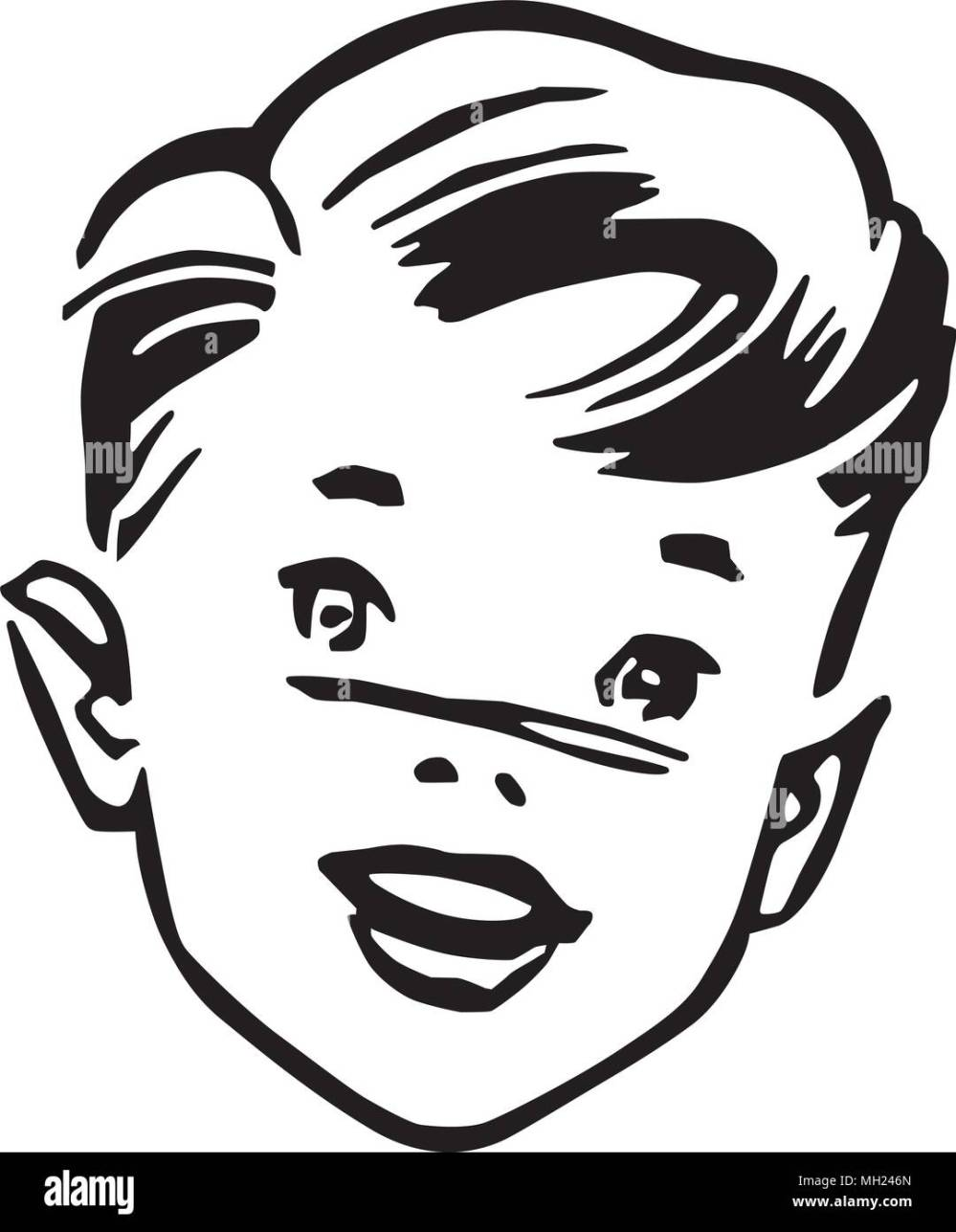medium resolution of young boy retro clipart illustration