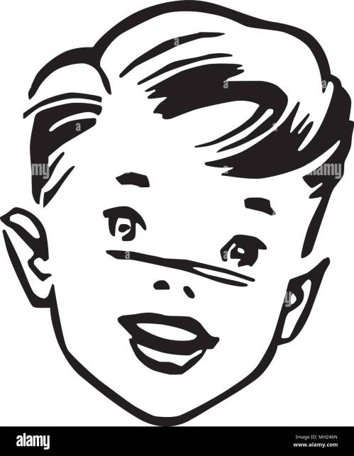 small resolution of young boy retro clipart illustration
