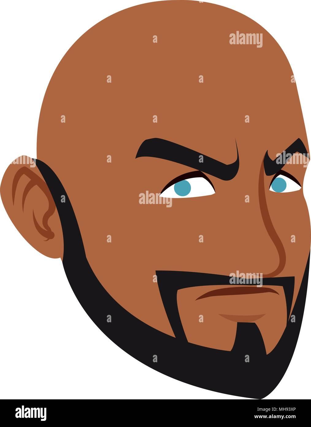 angry man face cartoon