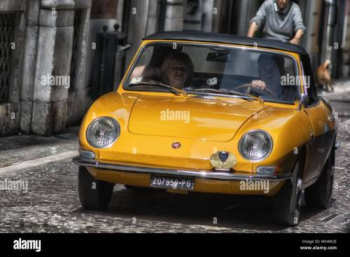 small resolution of fiat 850 spider on an old racing car in rally raid adriatico 2018 the famous italian historical race on april 2018