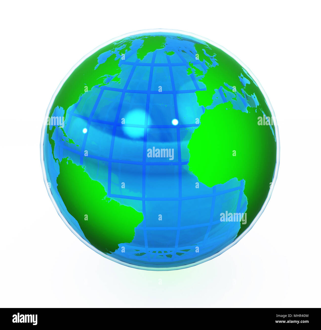 earth globe 3d stock