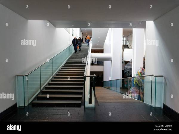 Modern Architecture Stairs Montreal Fine Art Museum Stock 183080080 - Alamy