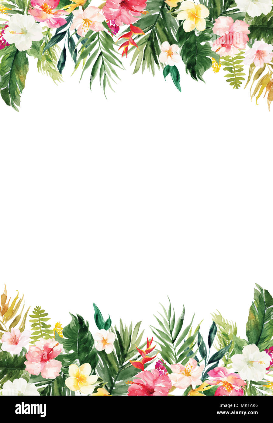 paper with flower border