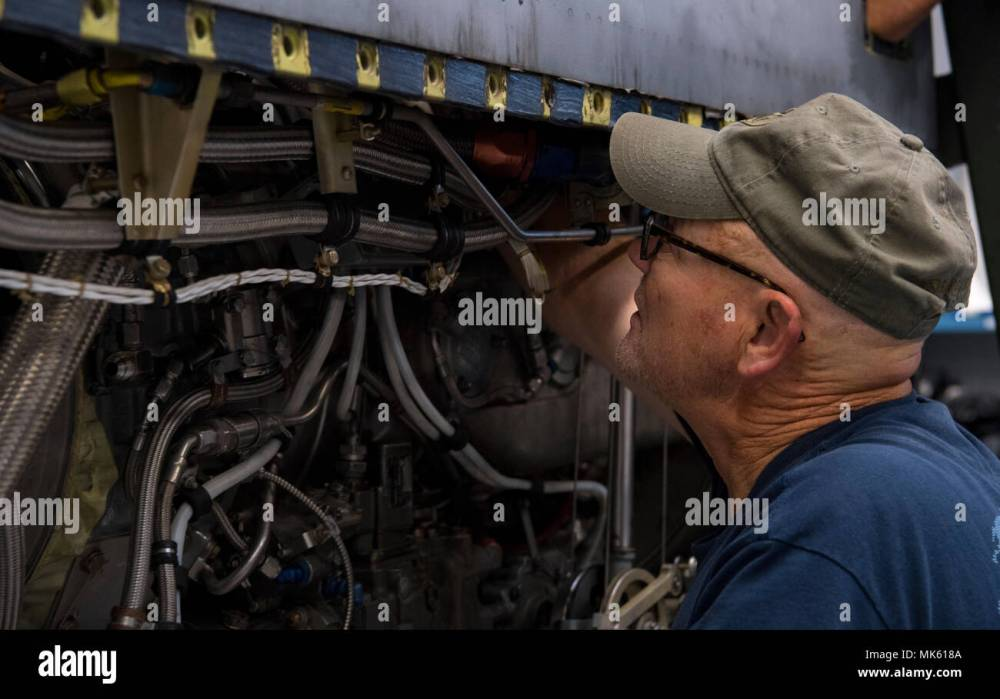medium resolution of james duty an airplane mechanic contracted through kay and associates inc clips a wiring