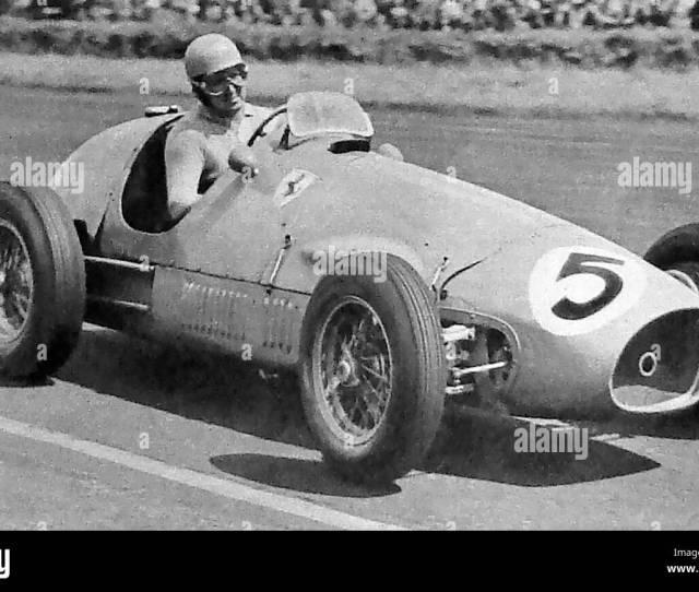 Italian Racing Champion Alberto Ascari Winner Of The British Grand Prix In His Scuderia Ferrari In