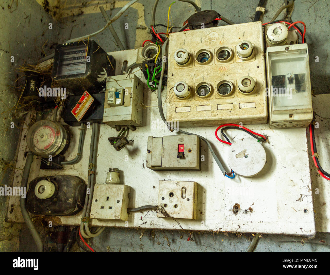 hight resolution of old electrical distribution board with electric meter fuse box fuse board and electric switches