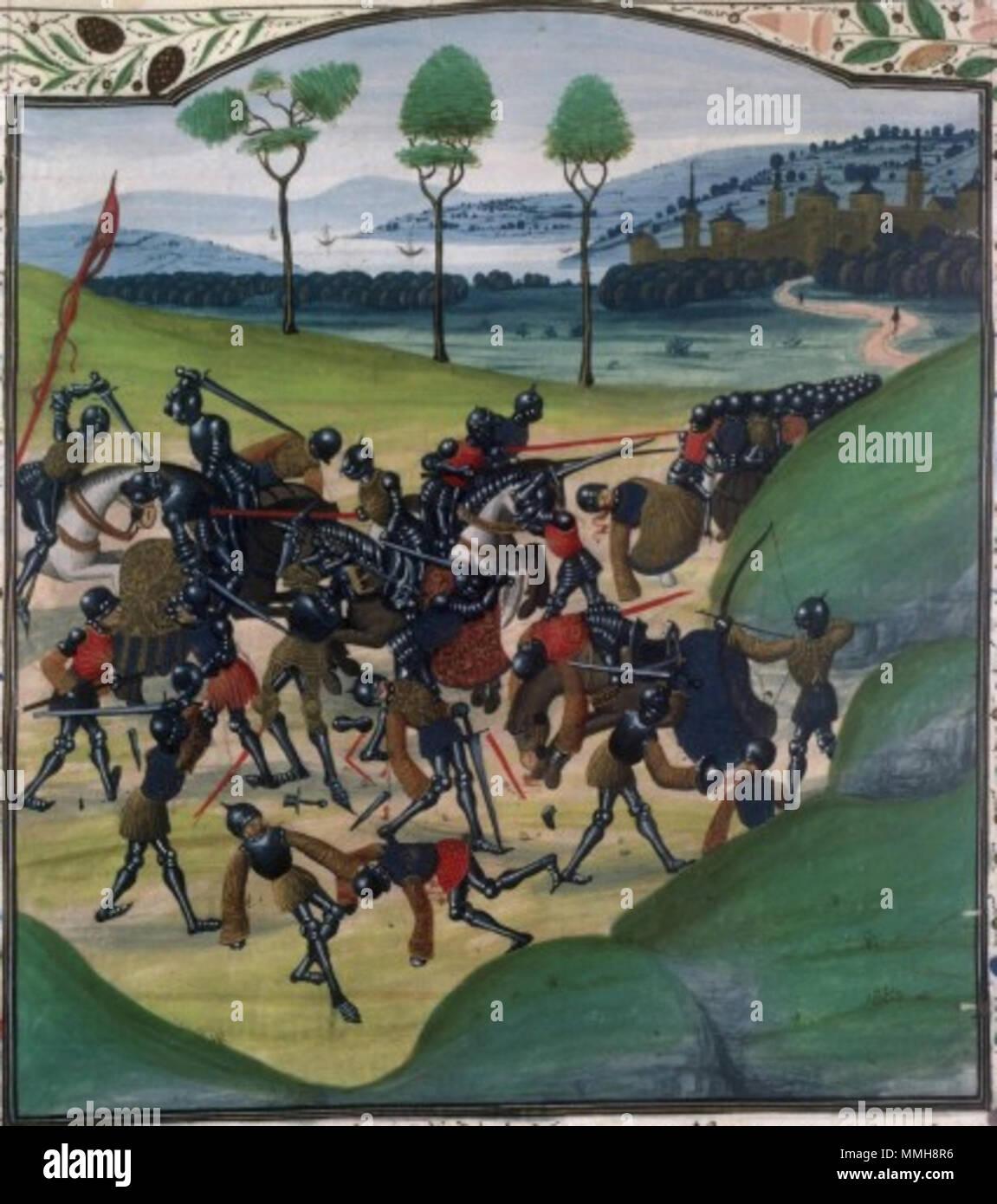 Bataille De Poitiers (1356) : bataille, poitiers, (1356), Bataille, Poitiers, (Bataille, Maupertuis),, 1356,, Chroniques, D'Angleterre, Wavrin, Circa, 1470-