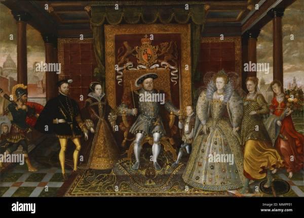Family Of Henry Viii Stock &