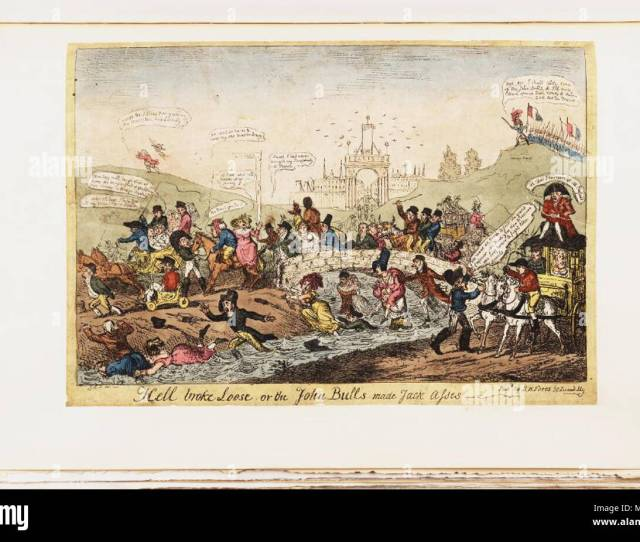British Political Cartoon Hell Broke Loose Or The John Bulls Made Jack Asses 1815 Bodleian Libraries Hell Broke Loose Or The John Bulls Made Jack