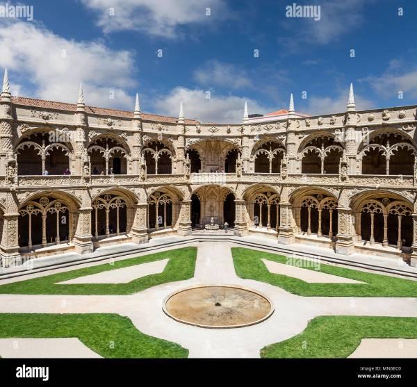 Jeronimos Monastery Interior Stock & - Alamy