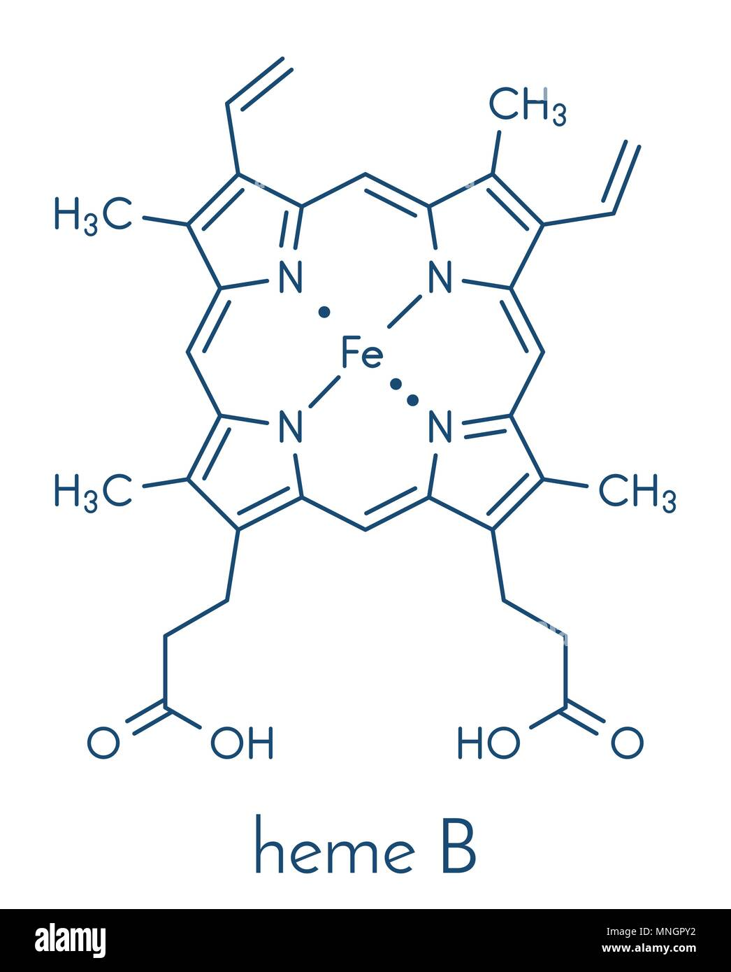 hight resolution of heme is an essential component of hemoglobin myoglobin cytochrome catalase and other metalloproteins skeletal formula