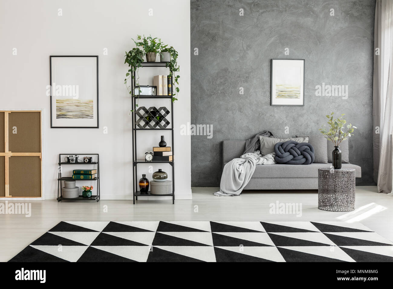 living room color with grey sofa led lights black and white carpet in spacious posters contrast colors walls