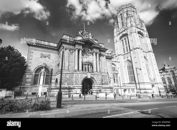 University Of Bristol Black And White Stock